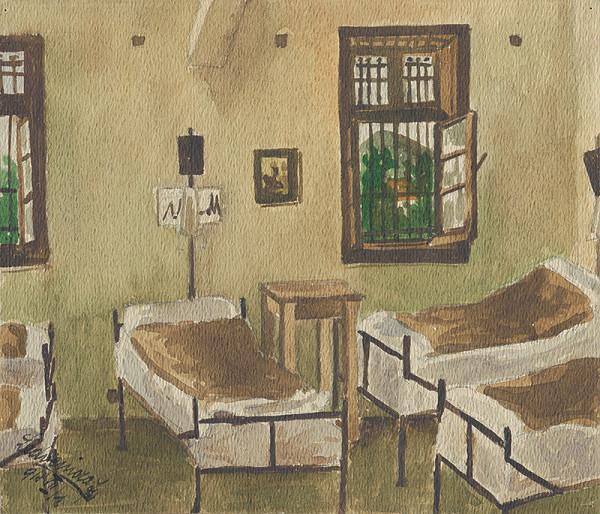 Ján Ladvenica - Nemocničná izba