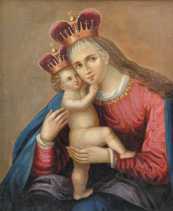 Stredoeurópsky maliar z konca 19. storočia - Kópia obrazu Panny Márie Pomocnej (Pasovskej)