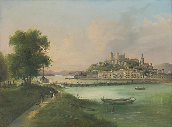 Stredoeurópsky maliar z 3. tretiny 19. storočia - Bratislava z juhu