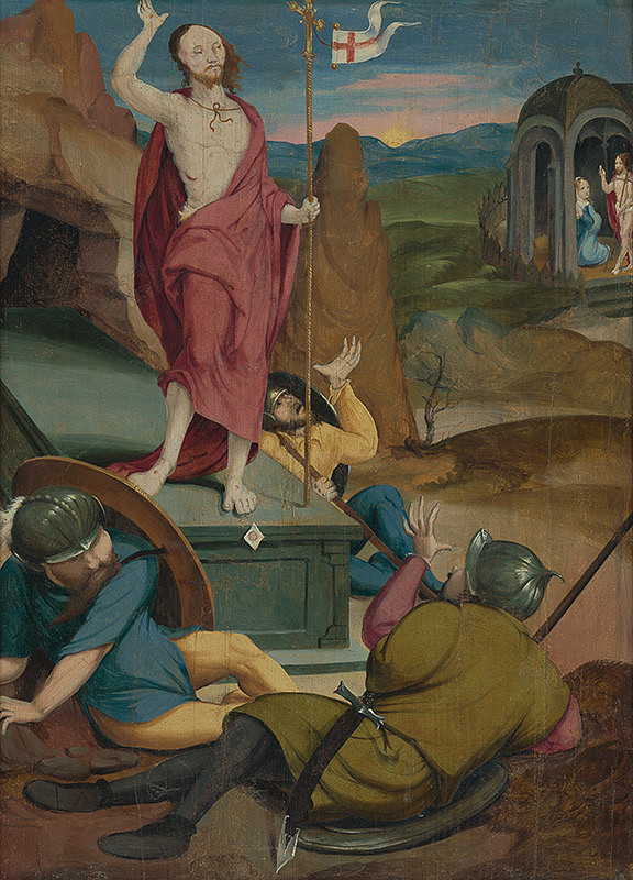 Nemecký autor zo 16. storočia, maliar z 1. štvrtiny 16. storočia Podunajská škola - Zmŕtvychvstanie Krista