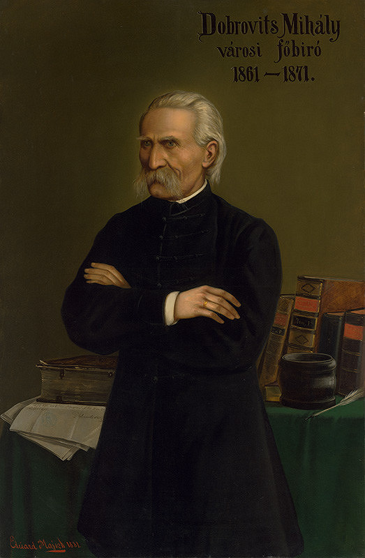 Eduard Majsch – Portrét prešporského richtára Michala Dobrovitsa