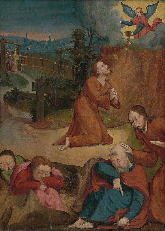 Nemecký autor zo 16. storočia, maliar z 1. štvrtiny 16. storočia Podunajská škola - Kristus na hore Olivovej