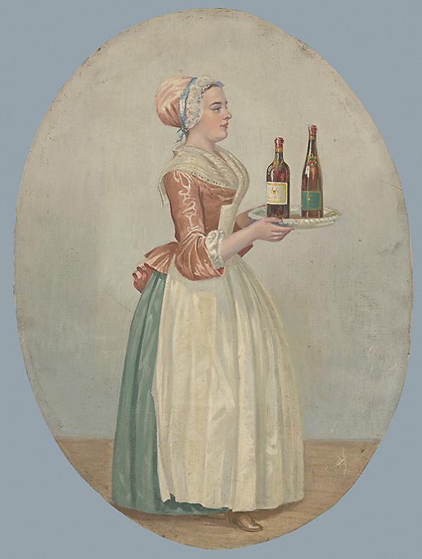 Stredoeurópsky kopista z 19. storočia - Dievča s nápojmi