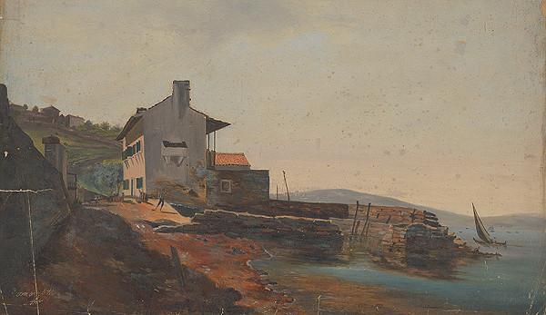 Flóris Ferenc Romer – Prímorská krajina s mólom a domami