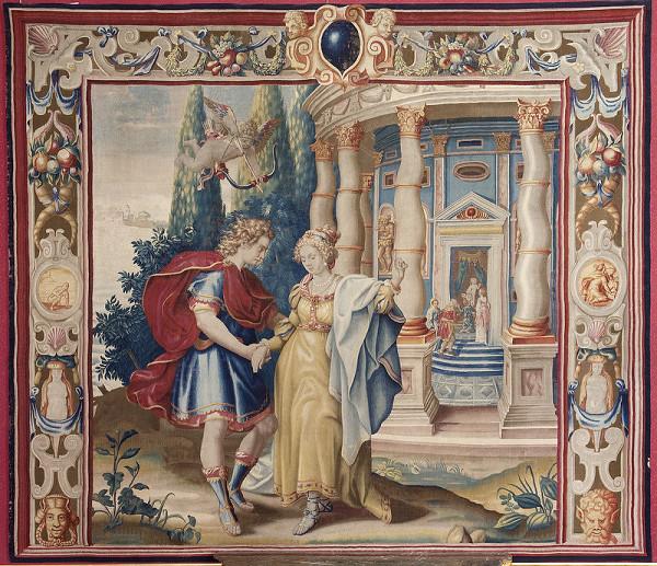 Francis Cleyn – Stretnutie Hero s Leandrom pri Venušinom chráme
