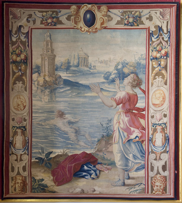 Francis Cleyn – Cesta Leandra k Hero