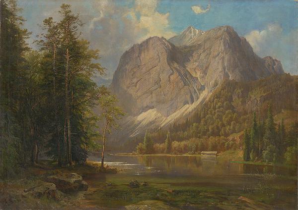 Charles A. Bool – Horská krajina s jazerom
