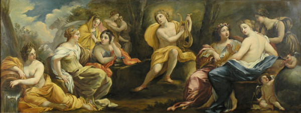 Stredoeurópsky autor z konca 19. storočia, Simon Vouet, Michel Dorigny – Apollo a múzy