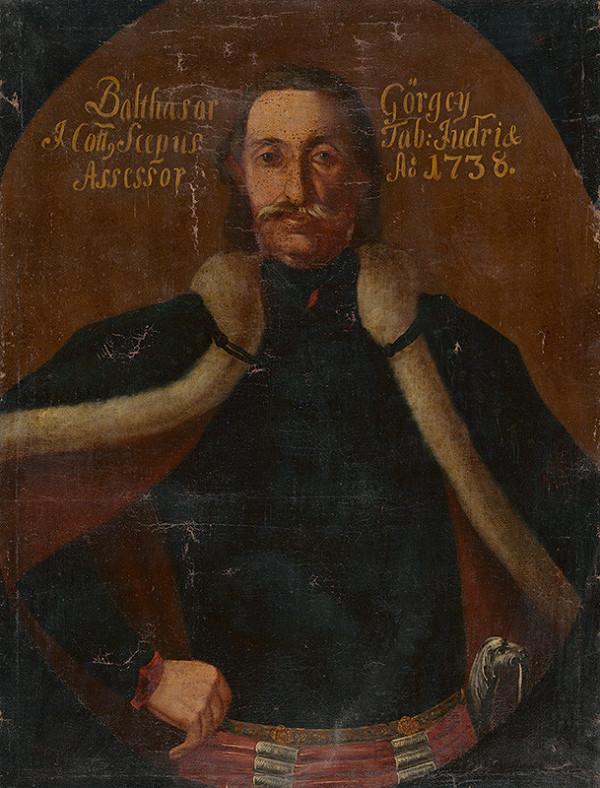 Stredoeurópsky maliar z 2. tretiny 18. storočia - Portrét Baltazára Görgey-ho