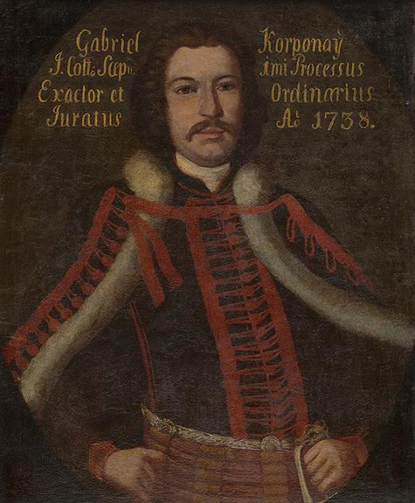 Stredoeurópsky maliar z 2. tretiny 18. storočia - Portrét Gabriela Korponay-ho