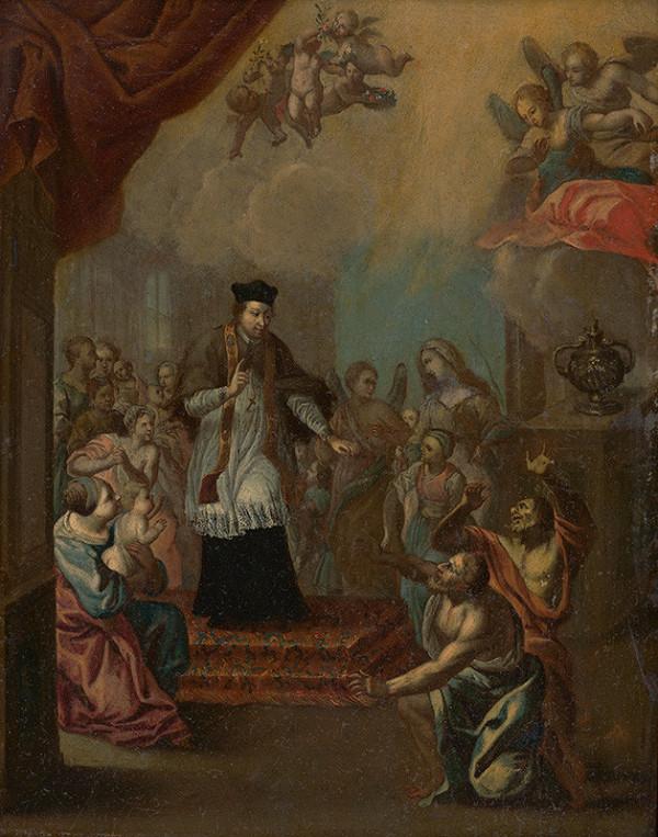 Stredoeurópsky autor z konca 17. storočia – Výjav zo života svätca