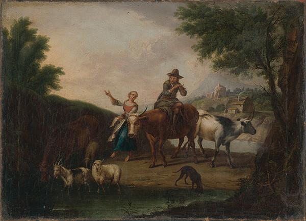 Nemecký maliar z 2. polovice 18. storočia – Pastierská scéna I.