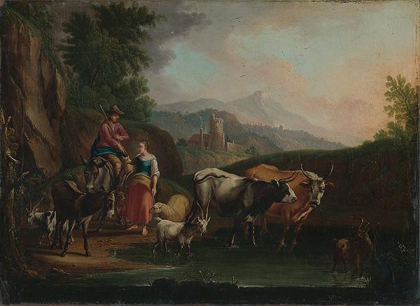 Nemecký maliar z 2. polovice 18. storočia – Pastierská scéna II.