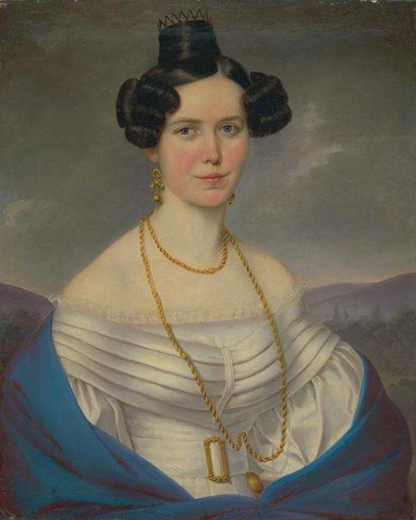 Bratislavský maliar okolo 1. tretiny 19. storočia – Portrét ženy v bielych šatách