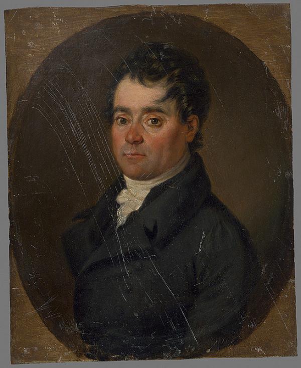 Stredoeurópsky maliar zo začiatku 19. storočia - Podobizeň muža v oválnom ráme
