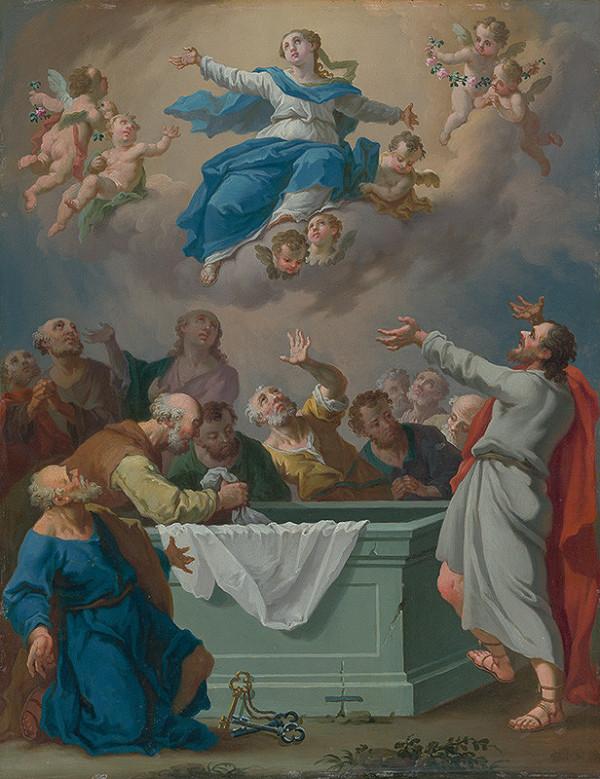 Stredoeurópsky maliar z konca 18. storočia - Nanebovzatie Panny Márie