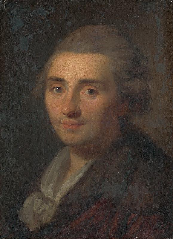 Stredoeurópsky maliar z konca 18. storočia, Anton Raphael Mengs – Podobizeň muža s bielym šálom
