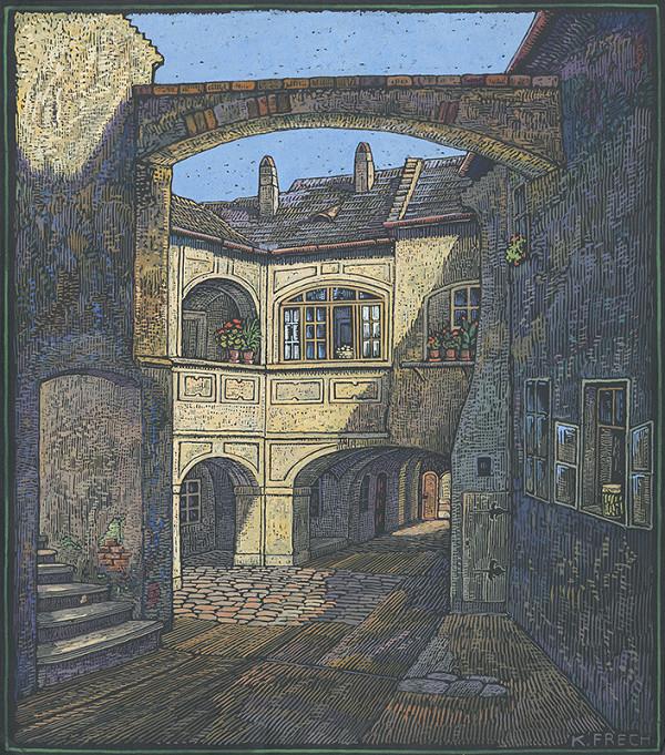 Karol Frech – Dvor radnice v Zuckermandli