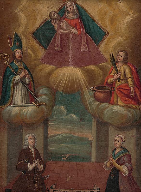 Slovenský maliar z 1. polovice 18. storočia - Votívny obraz