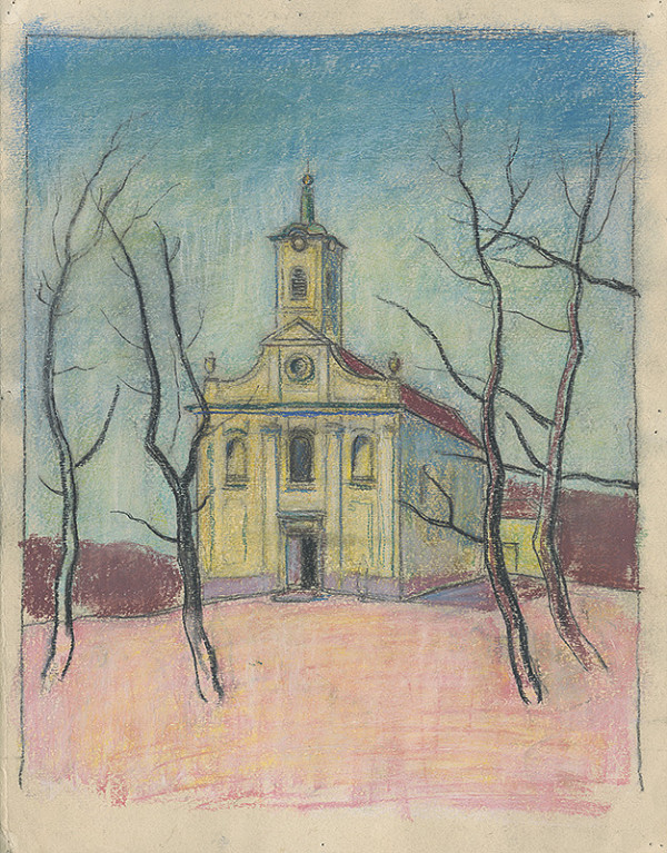 Július Schubert – Kostol na Kalvárii