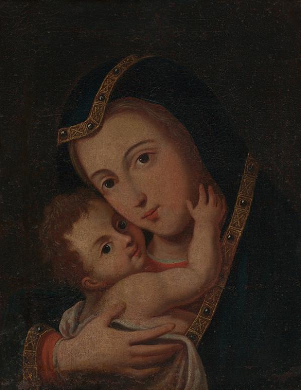 Stredoeurópsky maliar zo začiatku 18. storočia - Madona s dieťaťom