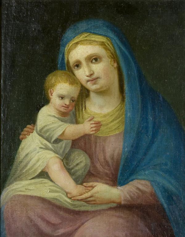 Stredoeurópsky maliar z konca 18. storočia – Panna Mária s dieťaťom