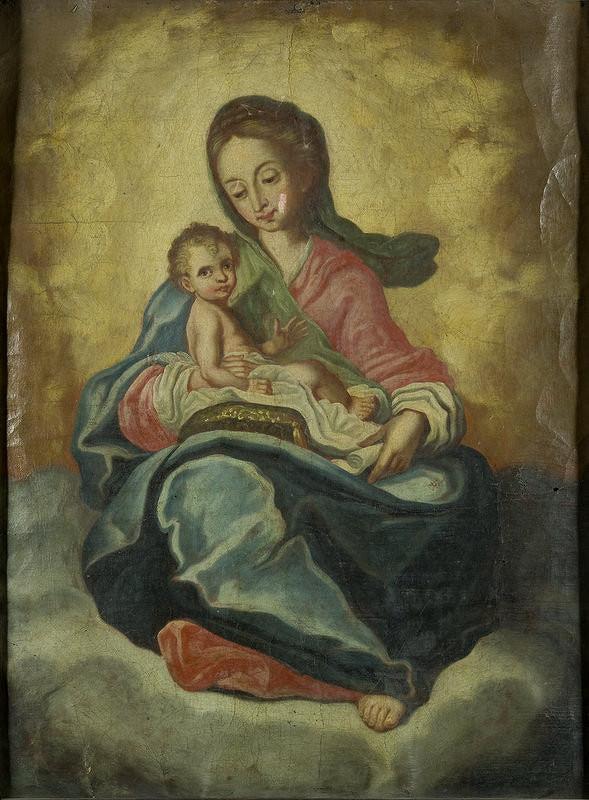 Stredoeurópsky maliar z prelomu 18. - 19. storočia - Madona s dieťaťom
