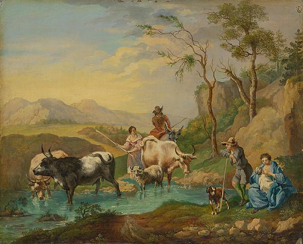 Stredoeurópsky maliar z 2. polovice 19. storočia - Napájanie stáda
