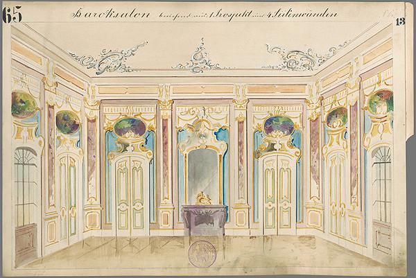 Gustáv Wintersteiner – Návrh na scénu Barokový salón