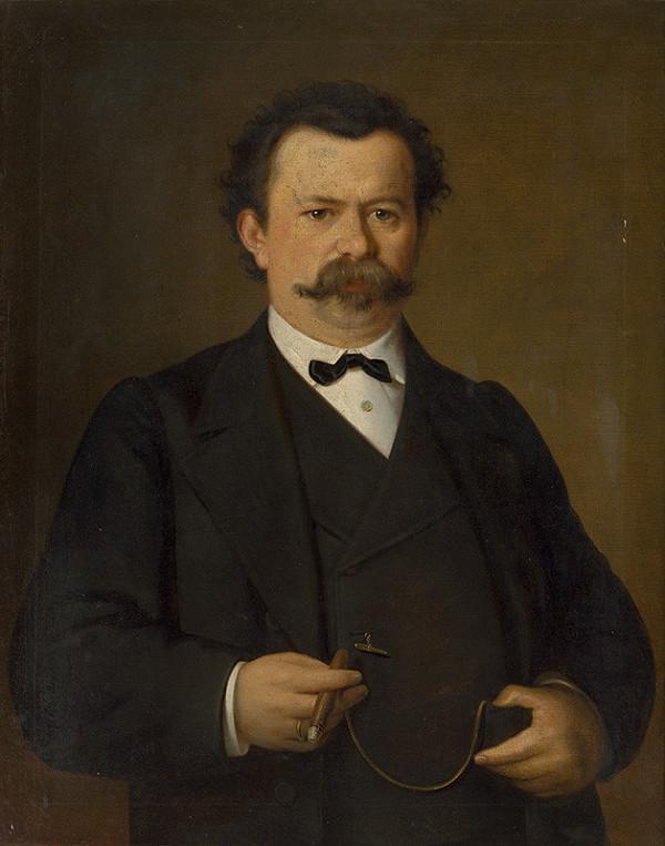 Stredoeurópsky maliar z 2. polovice 19. storočia - Portrét muža s cigarou