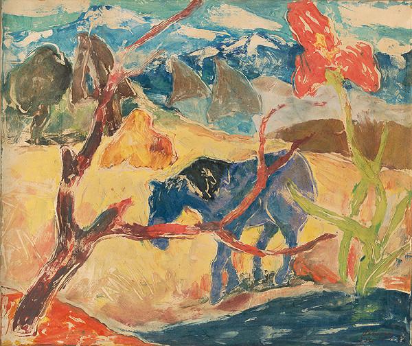Zolo Palugyay - Krajina s koňom