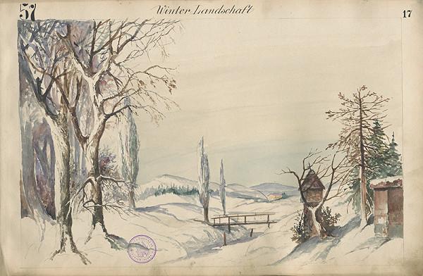Gustáv Wintersteiner - Návrh na scénu Zimná krajina