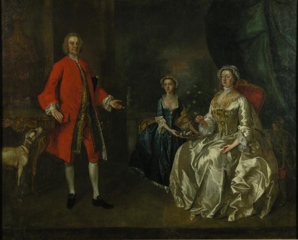 Stredoeurópsky autor z 18. storočia, William Hogarth – Rodinný portrét