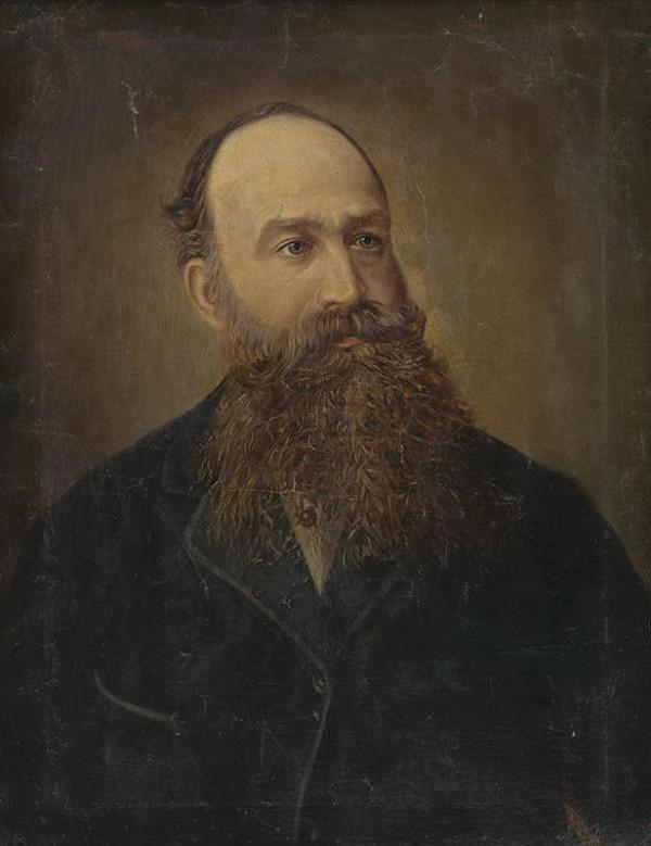 Stredoeurópsky autor z 19. storočia - Portrét muža s bradou