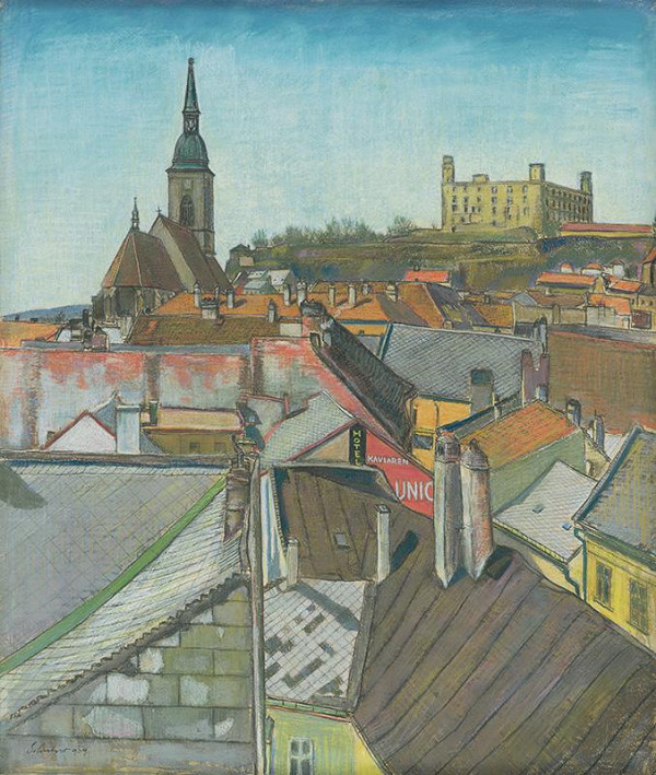 Július Schubert – Pohľad na Bratislavu