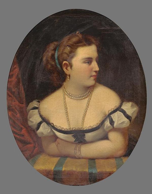 Stredoeurópsky autor z 1. polovice 19. storočia - Portrét mladej ženy