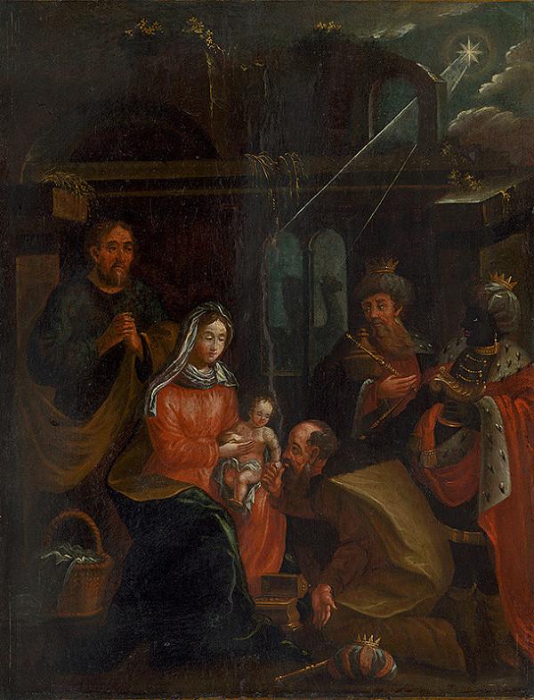 Stredoeurópsky maliar z prelomu 18. - 19. storočia - Kľaňanie troch kráľov