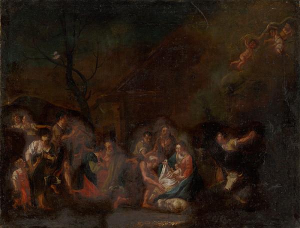 Severorakúsky majster - Kľaňanie pastierov