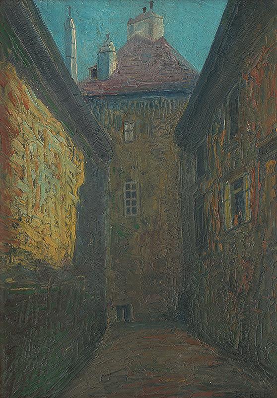 Karol Frech - Scharitzerov dom v Bratislave-miesto dnešného divadla P.O.H.