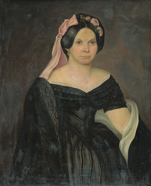 Stredoeurópsky autor z 19. storočia - Portrét mladej ženy
