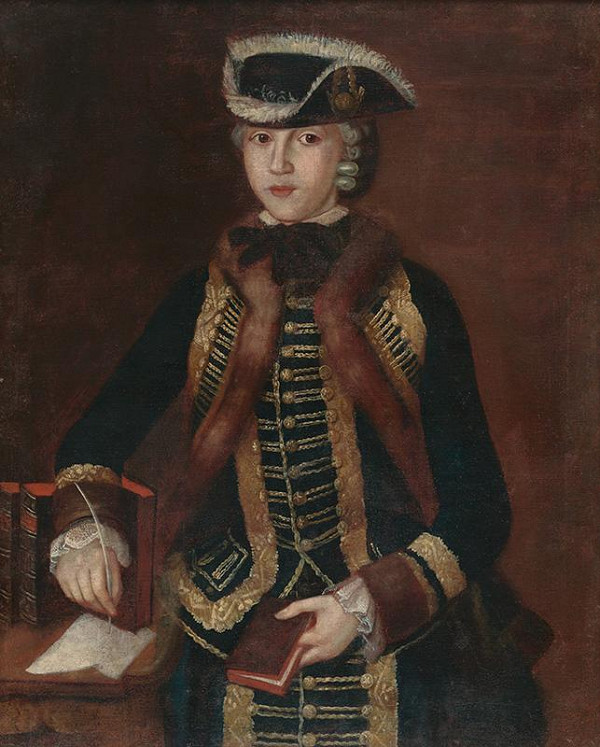 Stredoeurópsky maliar z polovice 18. storočia - Portrét mladej šľachtičnej