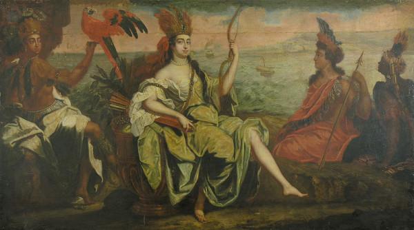 Stredoeurópsky maliar z 1. polovice 18. storočia – Alegória Ameriky