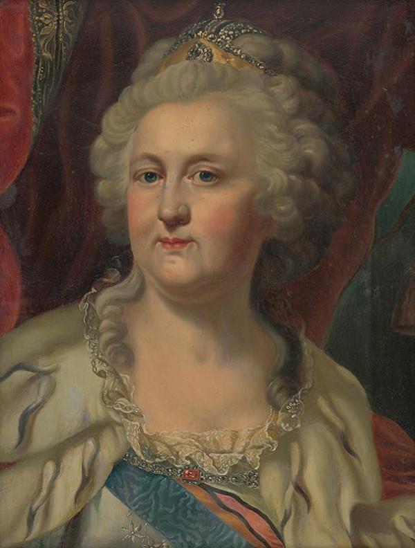 Stredoeurópsky autor z prelomu 19. - 20. storočia, Johann Baptiste Lampi - Portrét Kataríny Veľkej