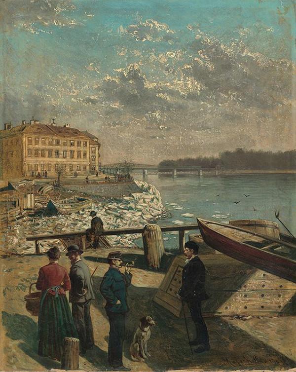 Eduard Majsch - Fischkalter na Dunaji v Bratislave