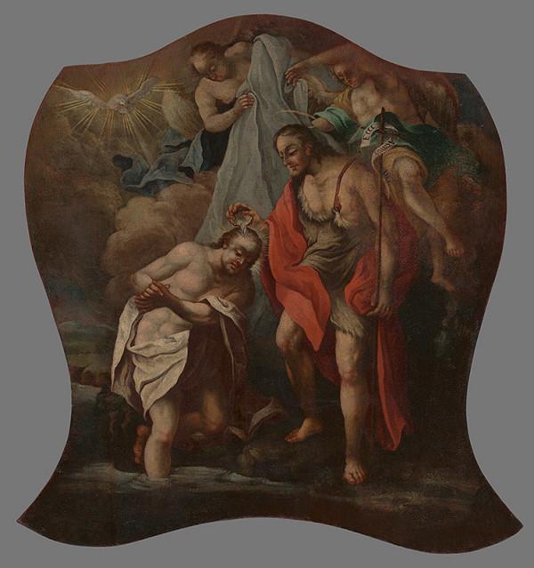 Stredoeurópsky maliar z prelomu 18. - 19. storočia - Krst Krista v Jordáne