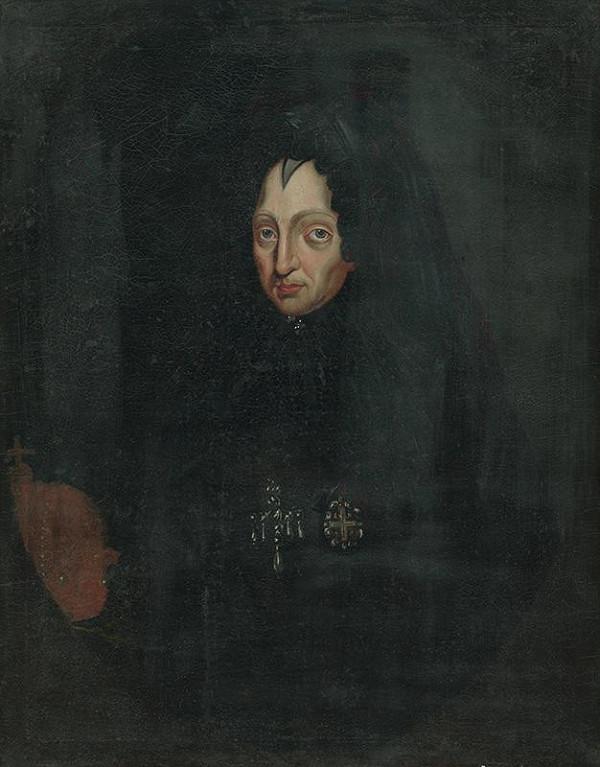 Stredoeurópsky maliar z 18. storočia - Portrét cisárovnej  Eleonóry Magdalény ako vdovy