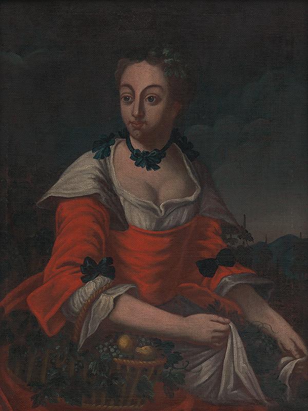 Stredoeurópsky maliar z 2. polovice 18. storočia – Portrét neznámej šľachtičnej - alegória úrody Ceres