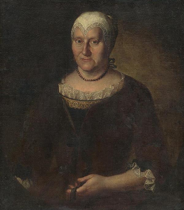 Stredoeurópsky maliar z polovice 18. storočia - Portrét ženy v bielom čepci
