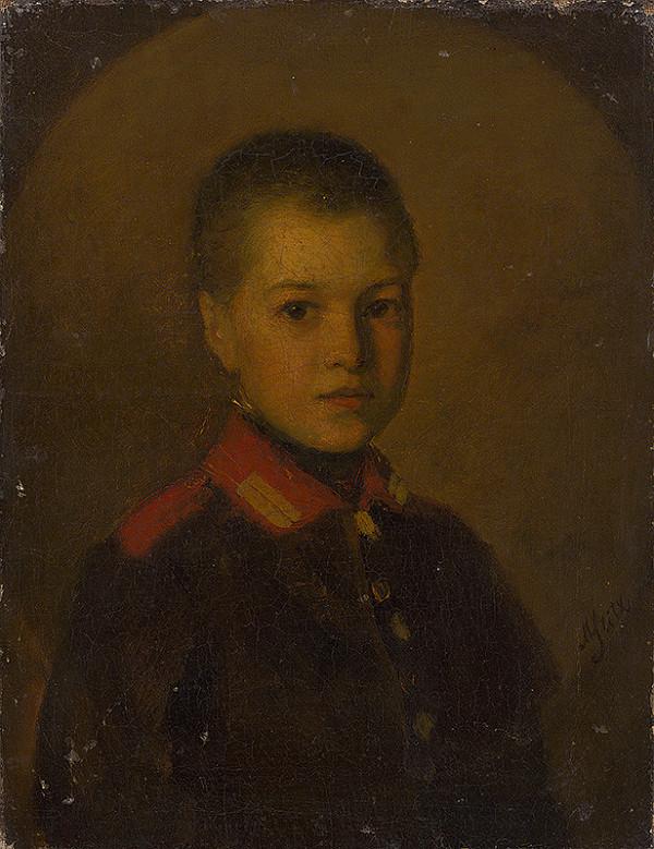 Moritz Stitz – Portrét chlapca vo vojenskej uniforme