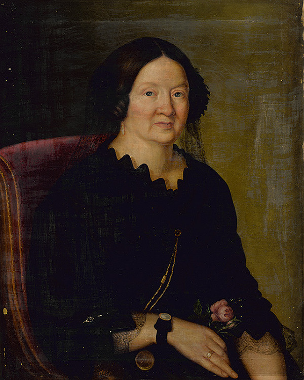Stredoeurópsky autor z 2. polovice 19. storočia – Portrét dámy v čiernom